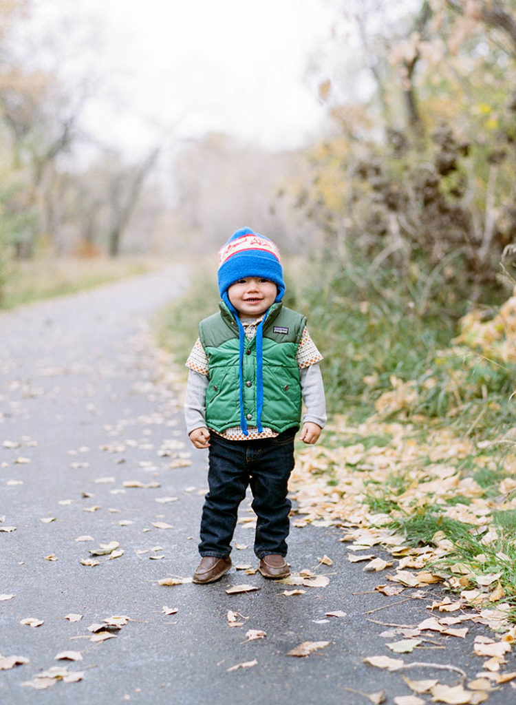 Little Boy In Rain, Fort Collins Family Photos