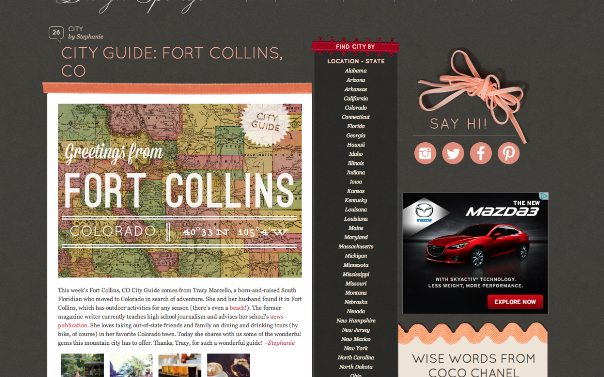 Featured on Design Sponge | Fort Collins, CO