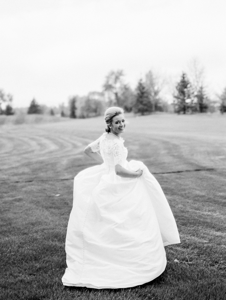 Colorado County Club Wedding: Bride in Wedding Dress, Colorado Film Photographer, Denver Weddings, Denver Wedding Photographers