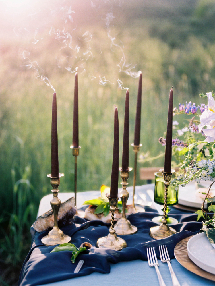 Denver Wedding Decor, Candlesticks In Sunlight