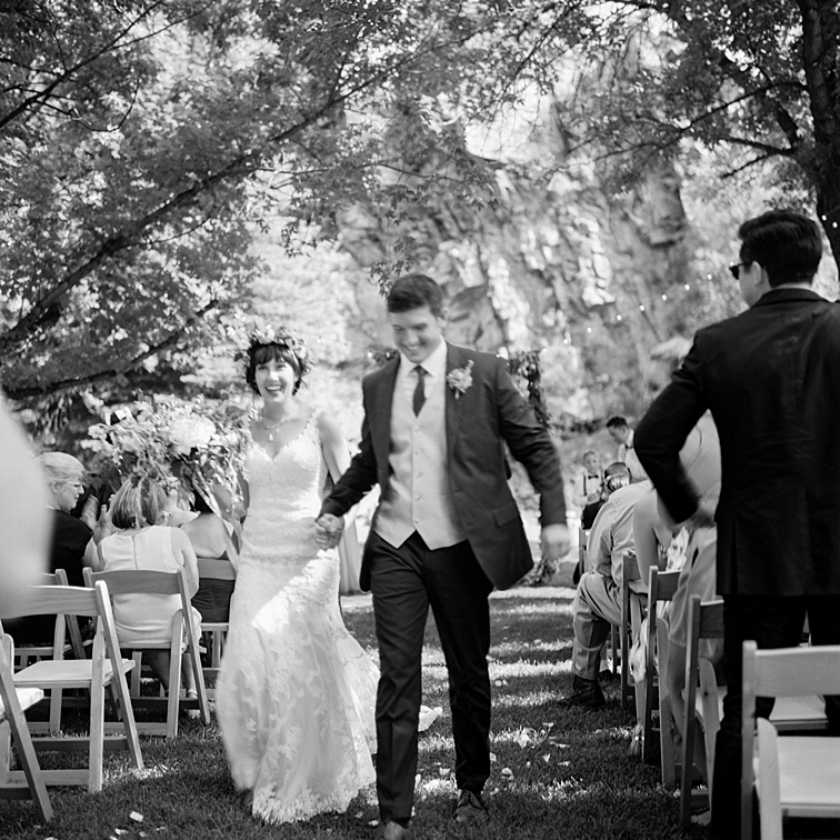 Recessional With Bride And Groom