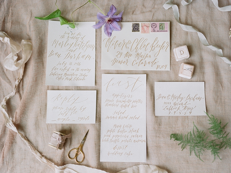 Wedding Photos Of Colorado Invitations