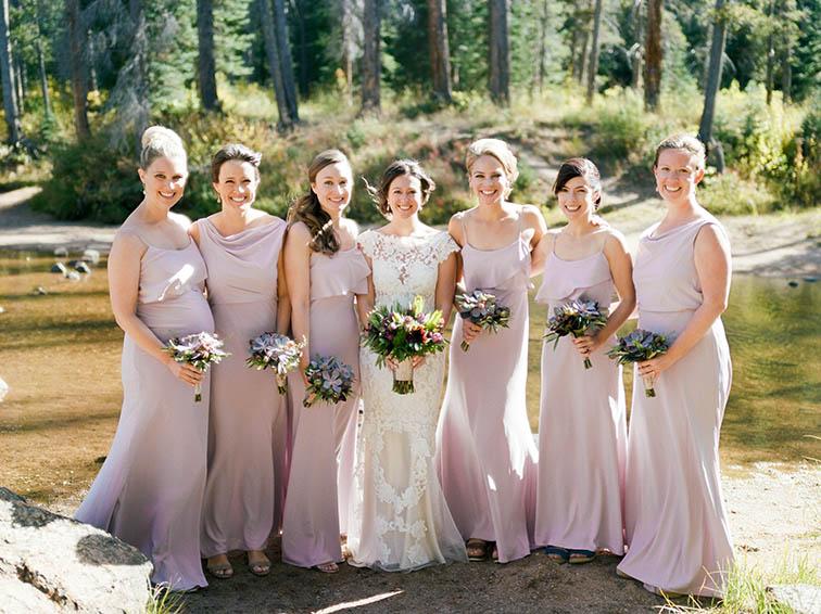 Bridemaids Holding Flowers, Vail Colorado Wedding