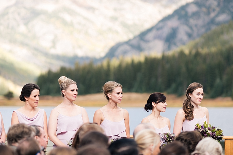 Bridesmaids In Mountains, Colorado Wedding at Piney River Ranch