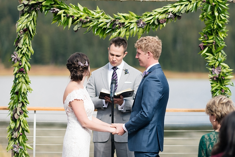 Wedding Ceremony on Deck - Mountain Wedding, Piney River Ranch