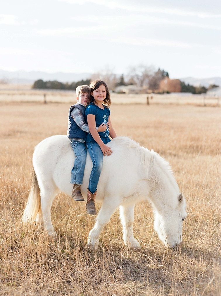 Children On Horse, Family Photographer, Fort Collins