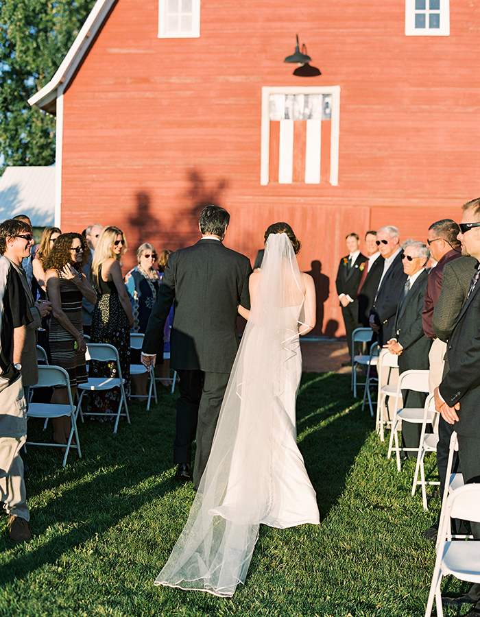 Bride Walking Down Aisle, Wedding photographer Colorado