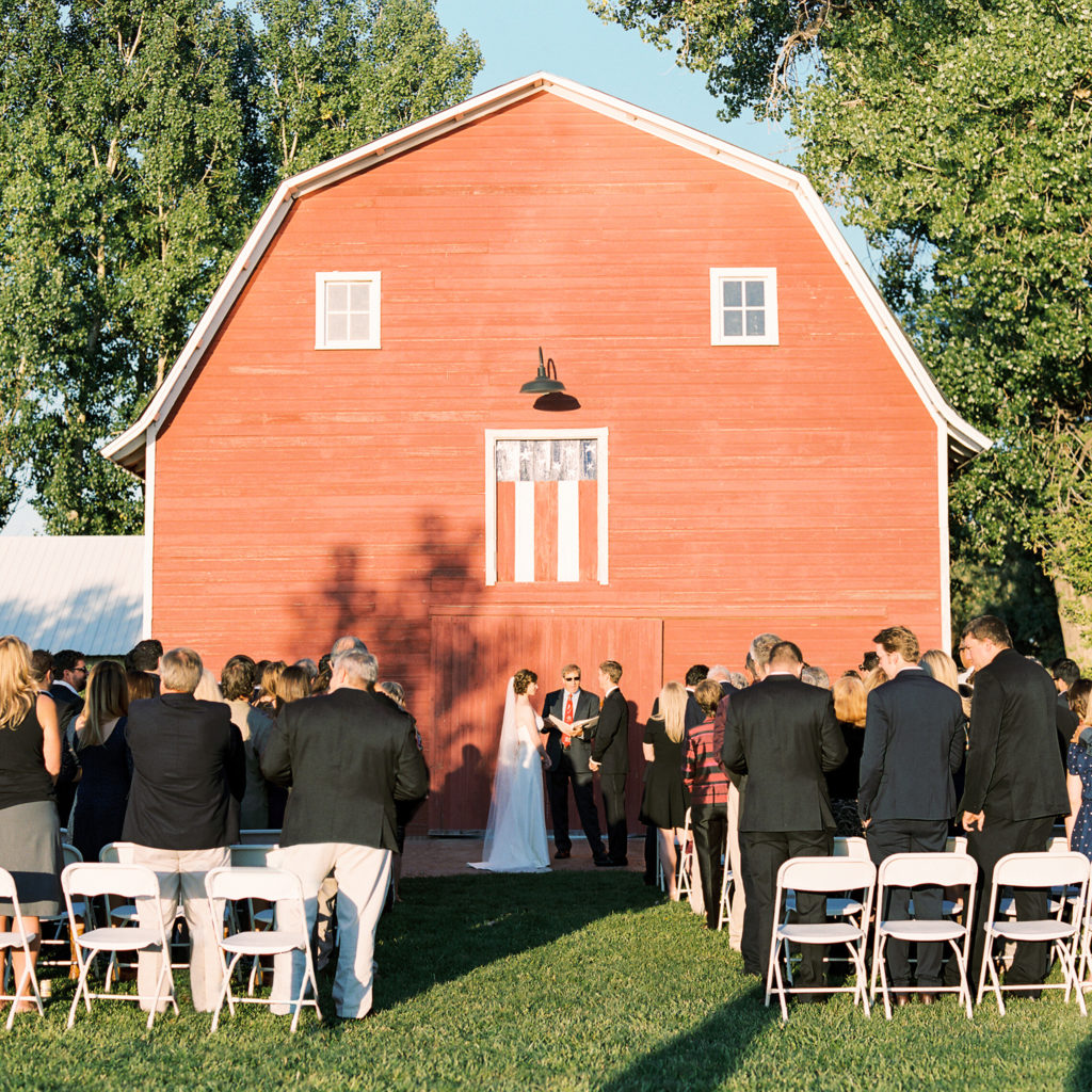 Farm Wedding Ceremony, Colorado Wedding Photography