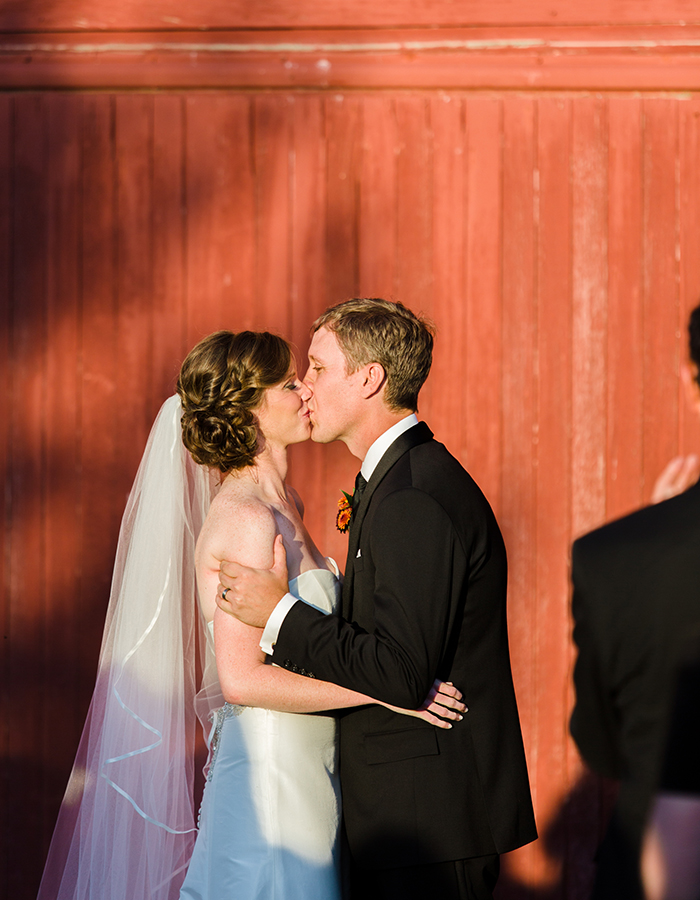 First Kiss, Colorado Farm Weddings