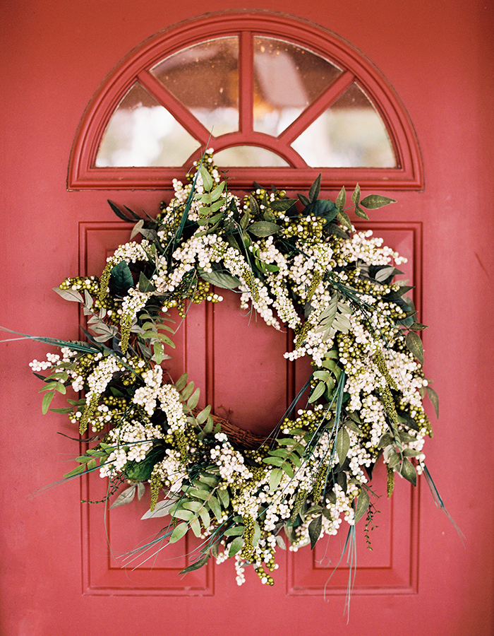 Fall Wedding Wreath On Door