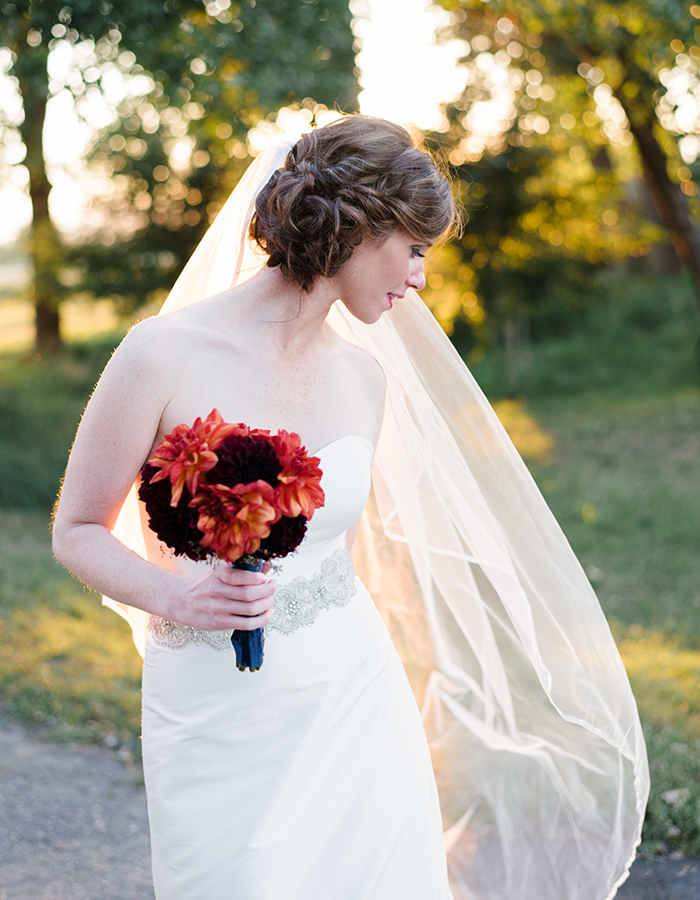 Bride Holding Bouquet, Fall Colorado Wedding