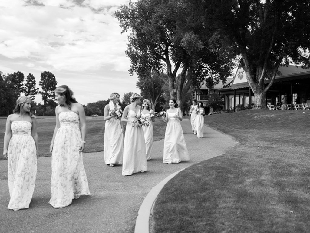 Bridesmaids Walking, Colorado Weddings
