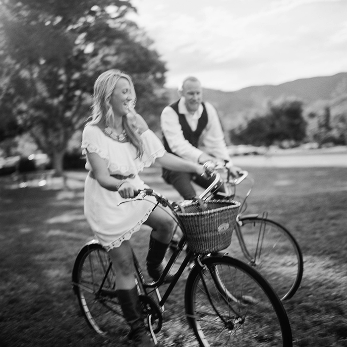 engagement session on bicycles, boulder engagement session, colorado wedding photographer, boulder wedding photographers, rolleiflex wedding photography, film photography, danielle defiore