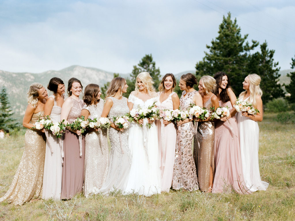 Bride With Bridesmaids, Estes Park Weddings