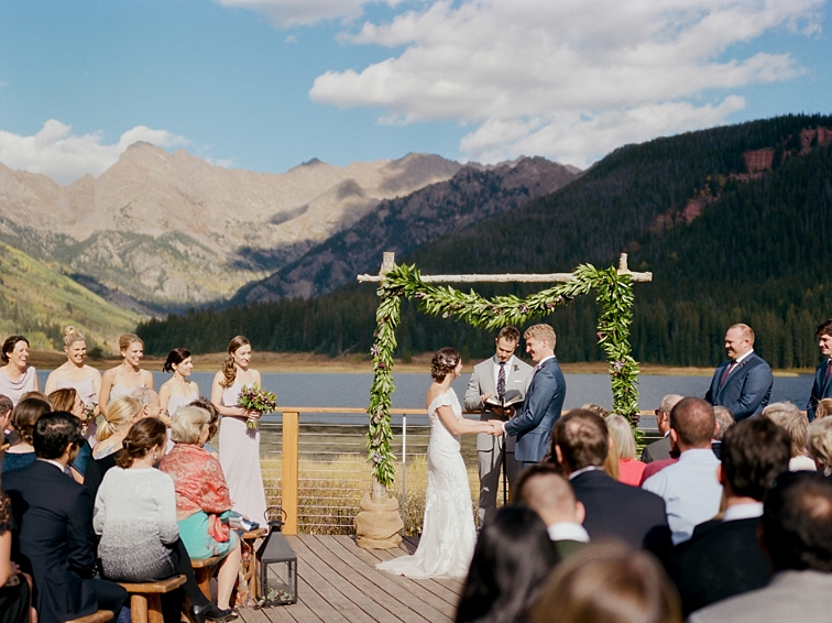 Fall Wedding Ceremony, Colorado Mountains