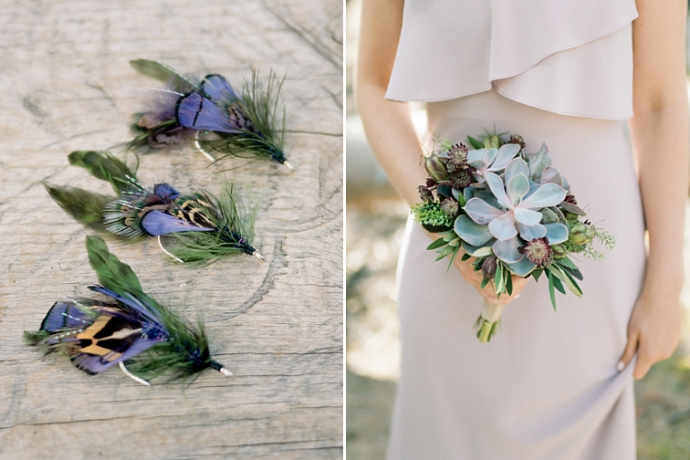 Fly Tie Boutonnieres, Piney River Ranch Wedding, Vail, Colorado