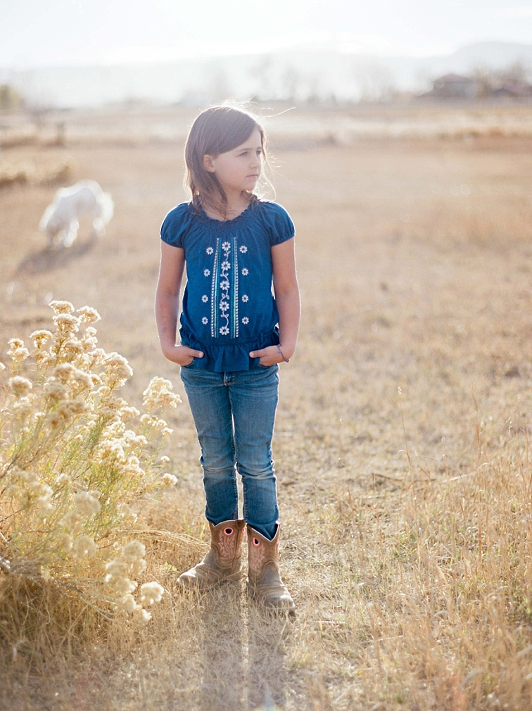 Girl Standing On Farm, Family Photographer, Fort Collins