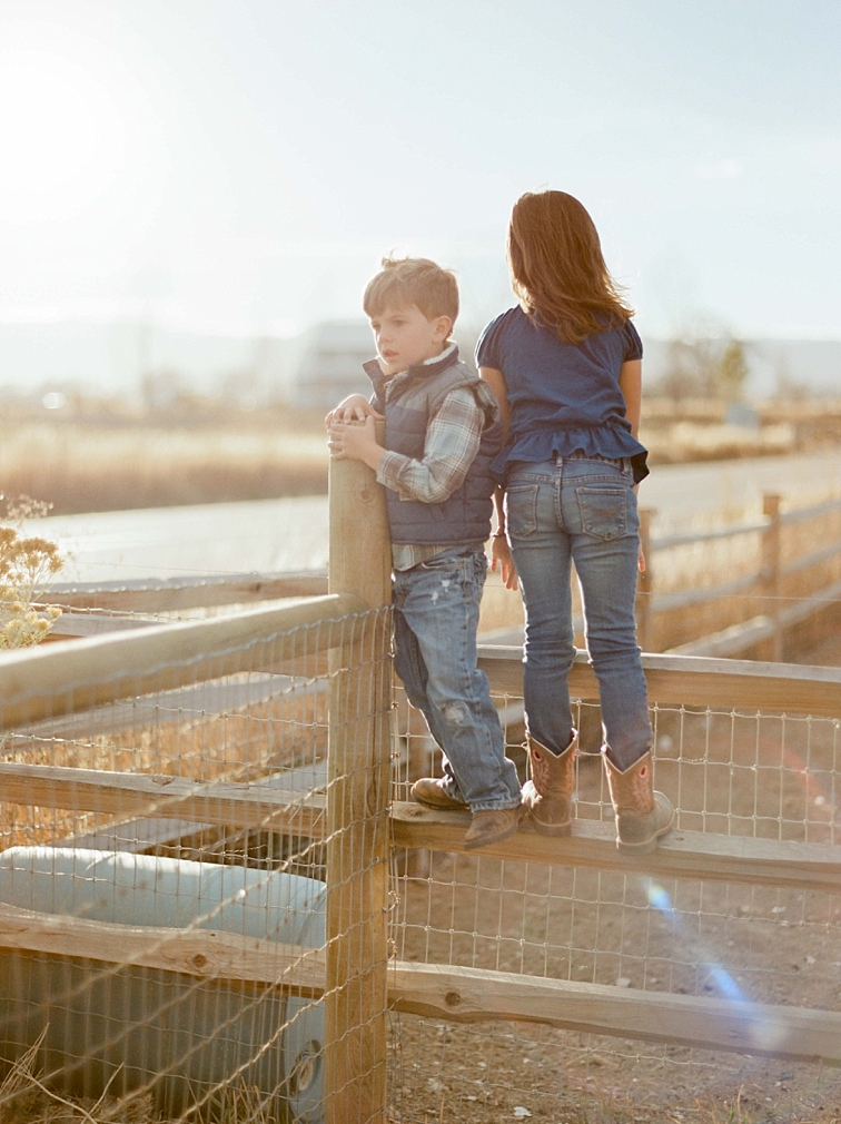 Siblings on Farm, Family Photographer, Fort Collins