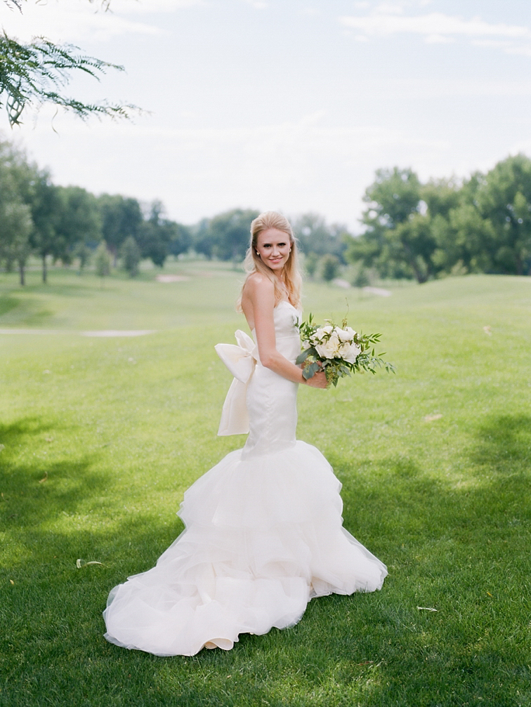 Beautiful Bride with Bouquet - Denver Wedding Photos, Cherry Hills Country Club
