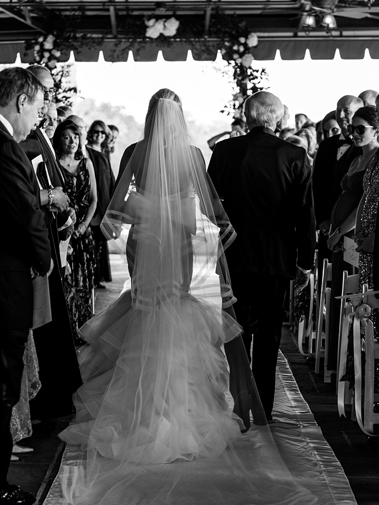Bride & Father Walking Down the Aisle - Denver Wedding Photos, Cherry Hills Country Club
