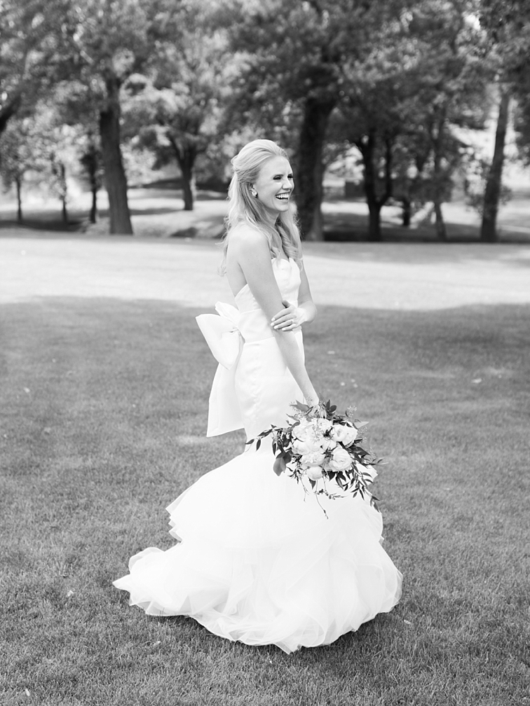 Bride Laughing - Denver Wedding Photos, Cherry Hills Country Club