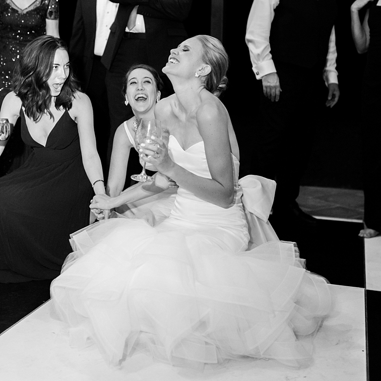 Bride Laughing with Friends - Denver Wedding Photos, Cherry Hills Country Club