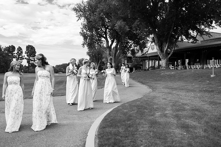 Bridesmaids Talking - Denver Wedding Photos, Cherry Hills Country Club
