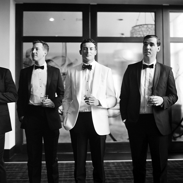 Groom & Groomsmen - Denver Wedding Photos, Cherry Hills Country Club