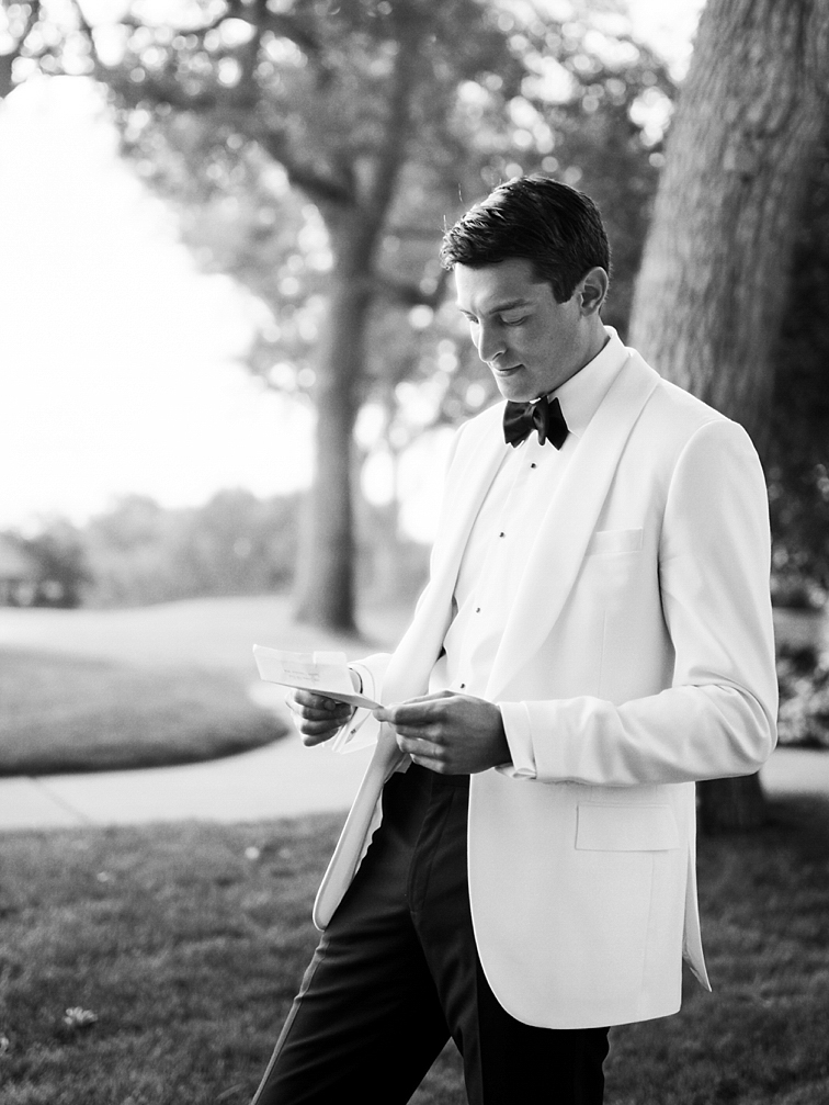 Groom Reading Vows - Denver Wedding Photos, Cherry Hills Country Club
