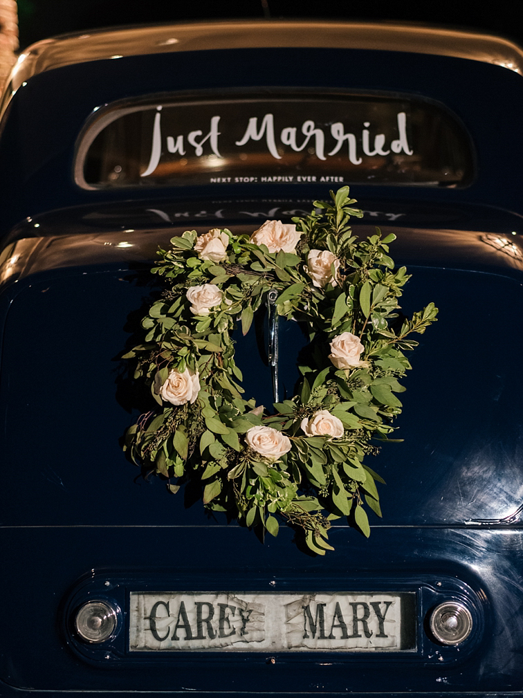Just Married Car - Denver Wedding Photos, Cherry Hills Country Club