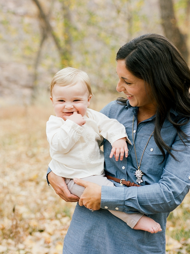Mother Holding Child, Fall Portraits, Fort Collins Photographers
