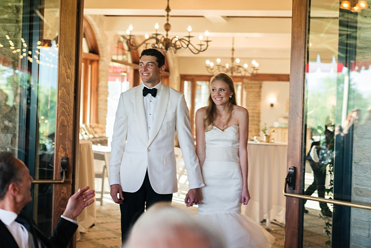 Bride & Groom Enter Reception - Denver Wedding Photos, Cherry Hills Country Club