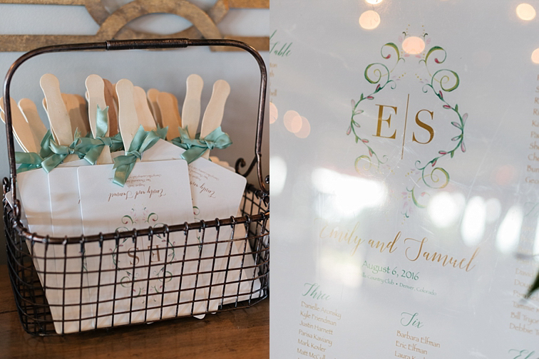 Seating Chart- Denver Wedding Photos, Cherry Hills Country Club