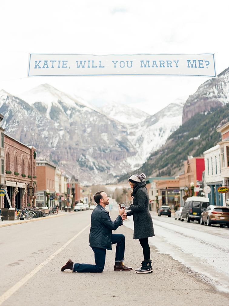 Mountain Engagement Photos, Colorado Surprise Proposal, Telluride Wedding Photographer