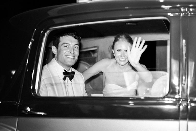 Wedding Car Wave - Denver Wedding Photos, Cherry Hills Country Club