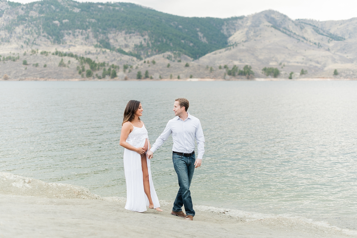 Man Women Holding Hands, Horsetooth Reservoir Portraits, Fort Collins Maternity Photographers