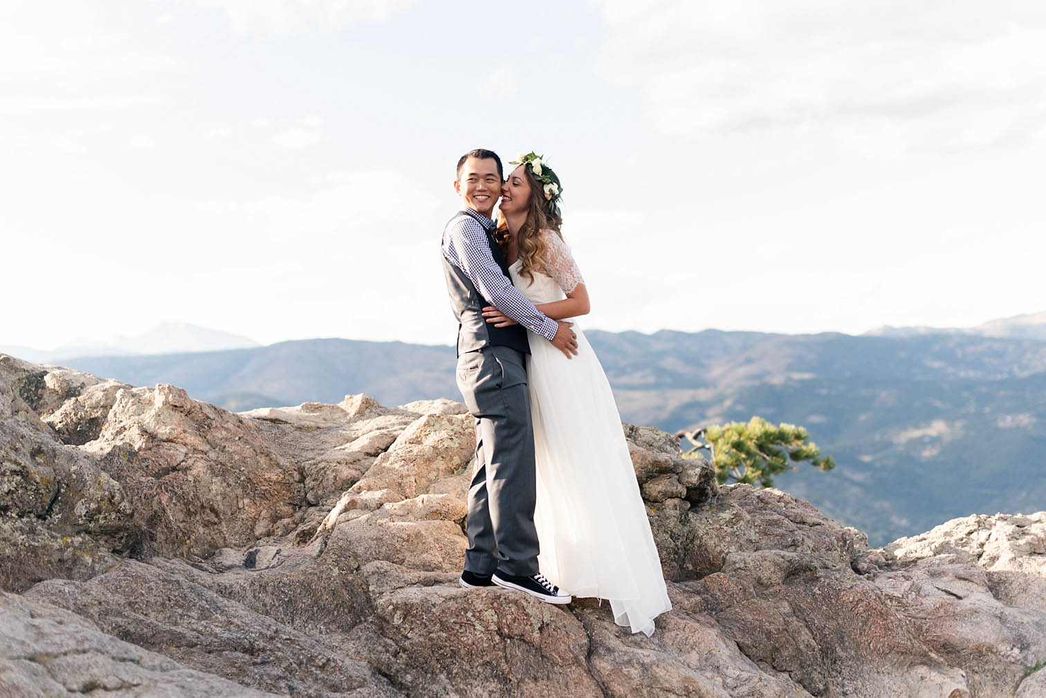 Bride Groom Colorado Mountain Top, Sunrise Amphitheater, Colorado Photographers, Best Destination Weddings
