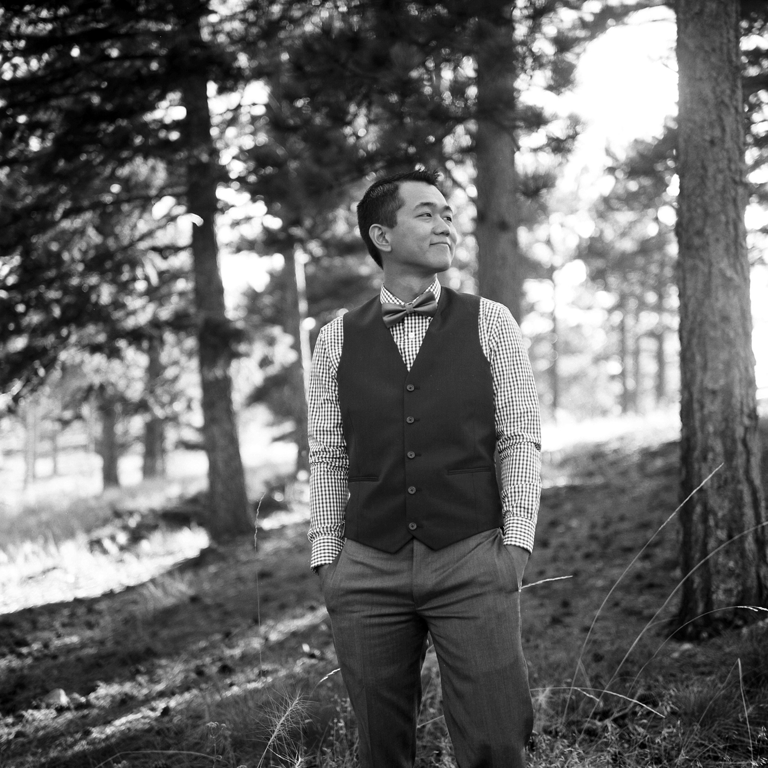 Groom In Woods, Sunrise Amphitheater, Colorado Photographers, Best Destination Weddings, Danielle DeFiore Photography