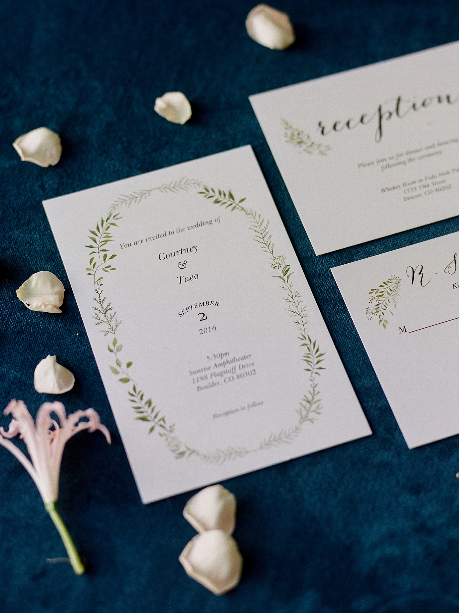 Desintation Wedding Invitation, Colorado Photographers, Best Destination Weddings, Danielle DeFiore Photography