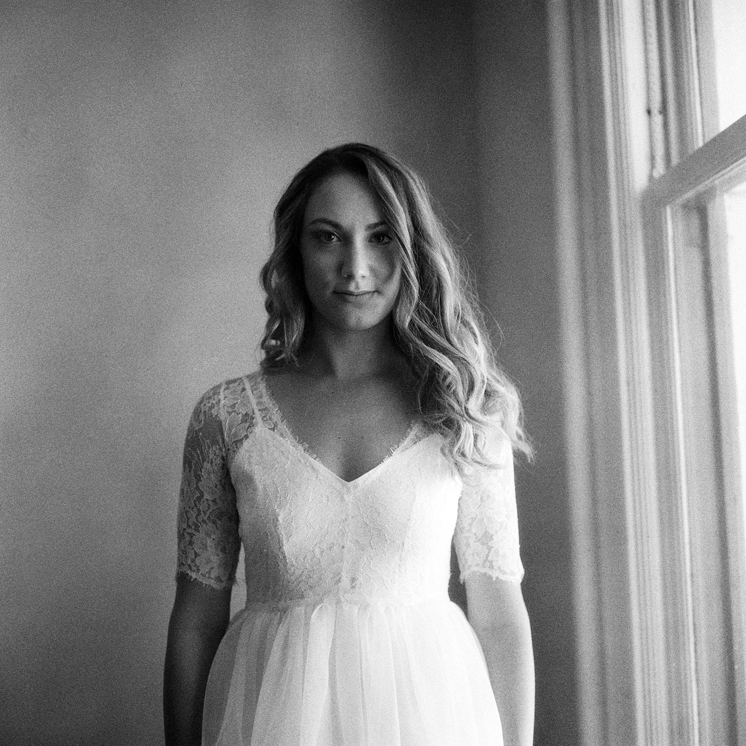 Bride Smiling In Window, Film Photographers, Black and White Wedding Photos, Couple Dancing, Colorado Photographers, Best Destination Weddings, Danielle DeFiore Photography