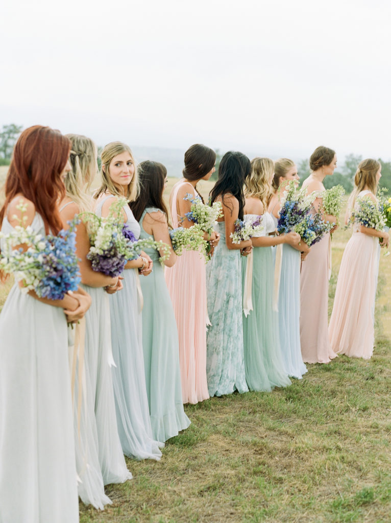 Denver Wedding, Colorado Weddings, Cherokee Castle, Colorful Bridemaids Dresses