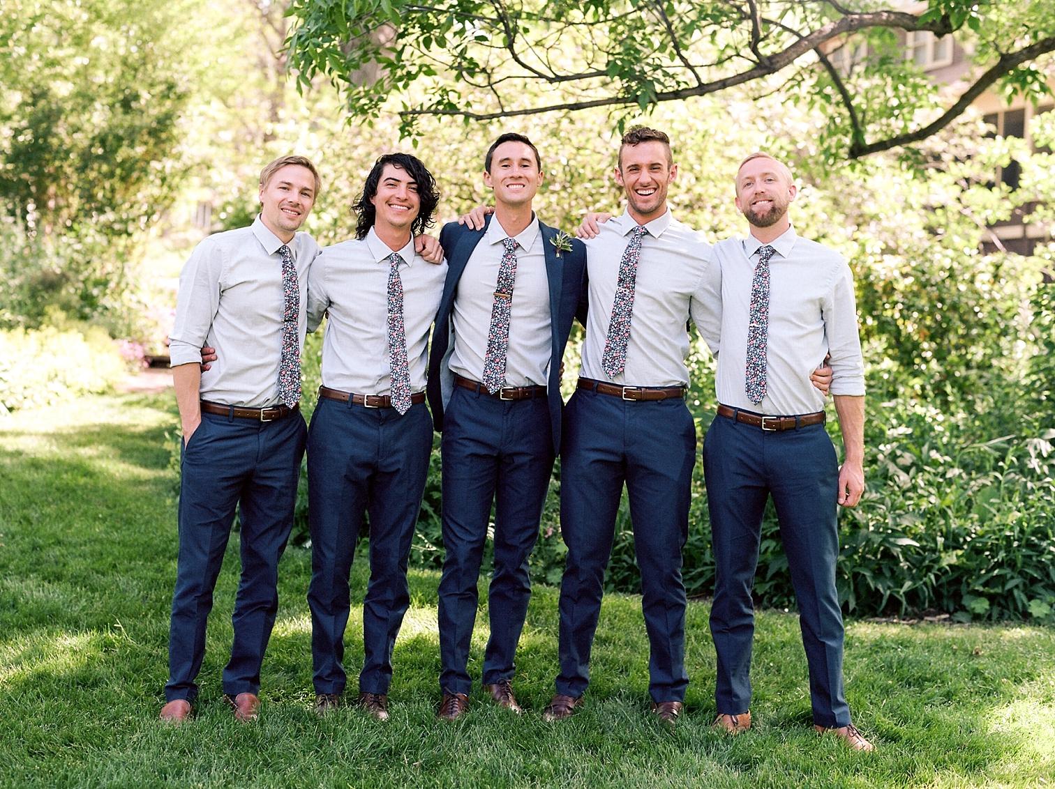 Outdoor Wedding Details, Colorado Mountain Weddings, Danielle DeFiore Photographer, Destination Wedding Photographers, Weddings in Boulder Colorado, Outdoor Ceremony, Film Photographer, Groomsmen