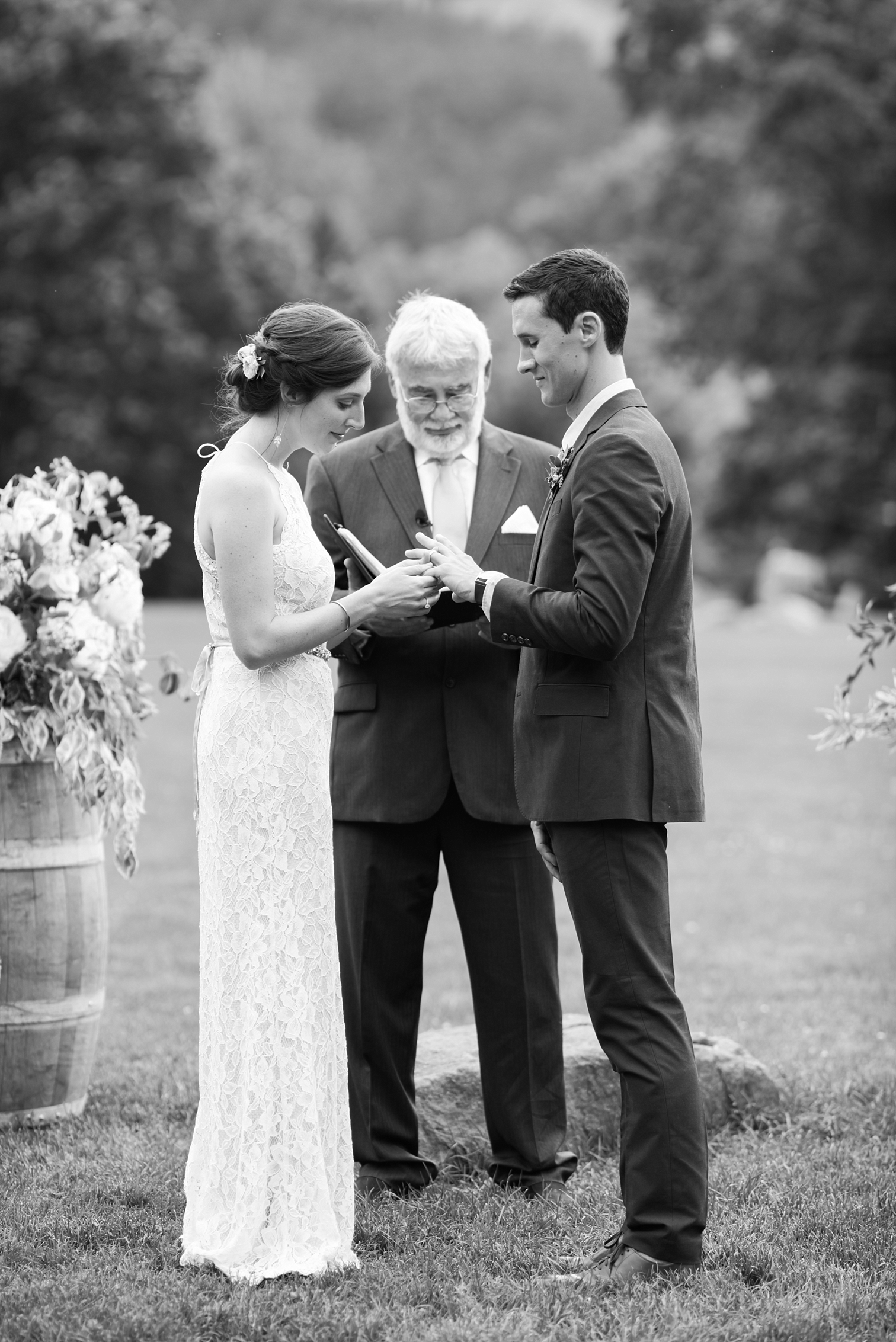 Black and White Wedding Photos, Outdoor Wedding Details, Colorado Mountain Weddings, Danielle DeFiore Photographer, Destination Wedding Photographers, Weddings in Boulder Colorado, Outdoor Ceremony, Film Photographer, Wedding Rings