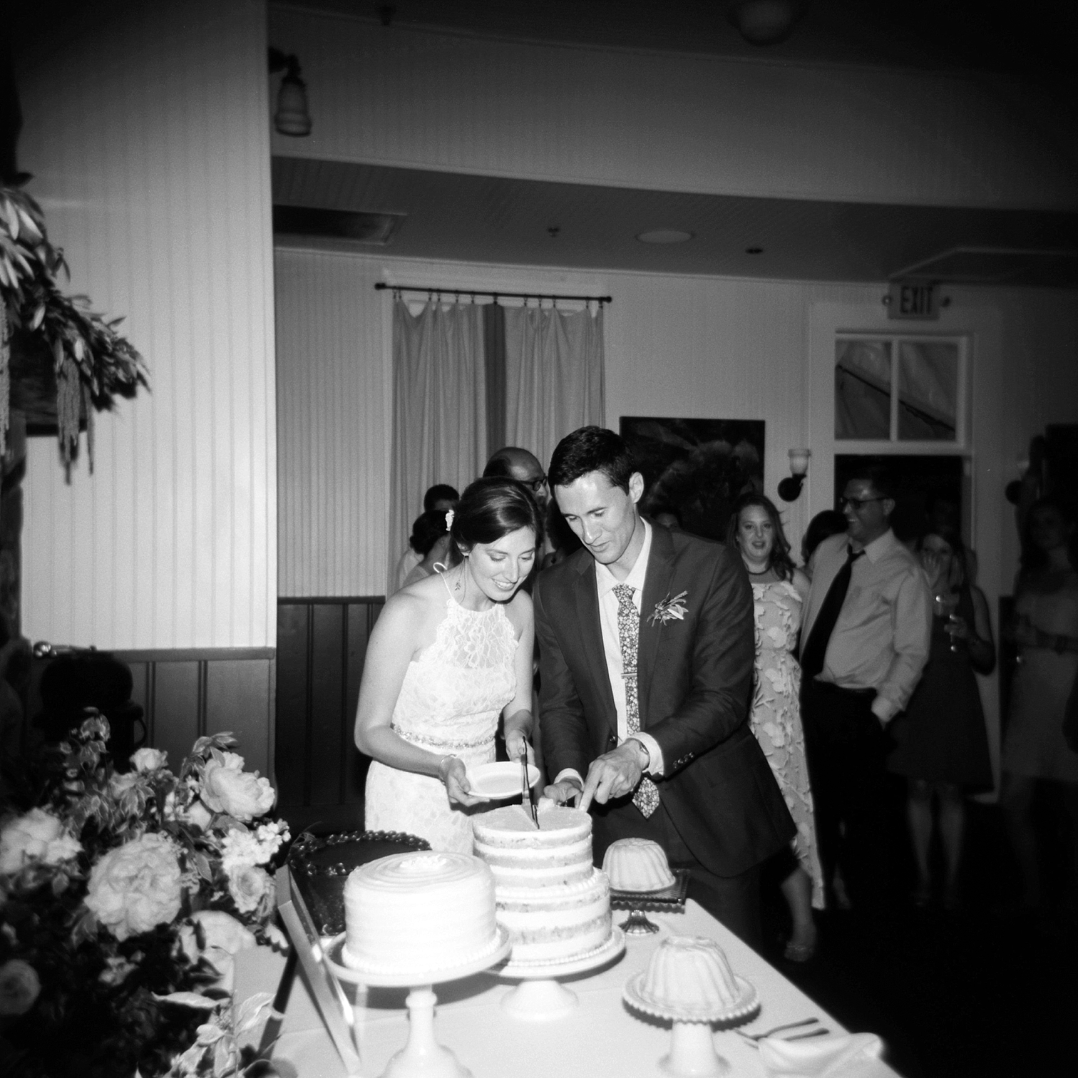 Chautauqua Dining Hall Wedding, Holga Wedding Photos, Outdoor Wedding Details, Colorado Mountain Weddings, Danielle DeFiore Photographer, Destination Wedding Photographers, Weddings in Boulder Colorado, Outdoor Ceremony, Film Photographer, Summer Weddings, Bride And Groom Cutting Cake