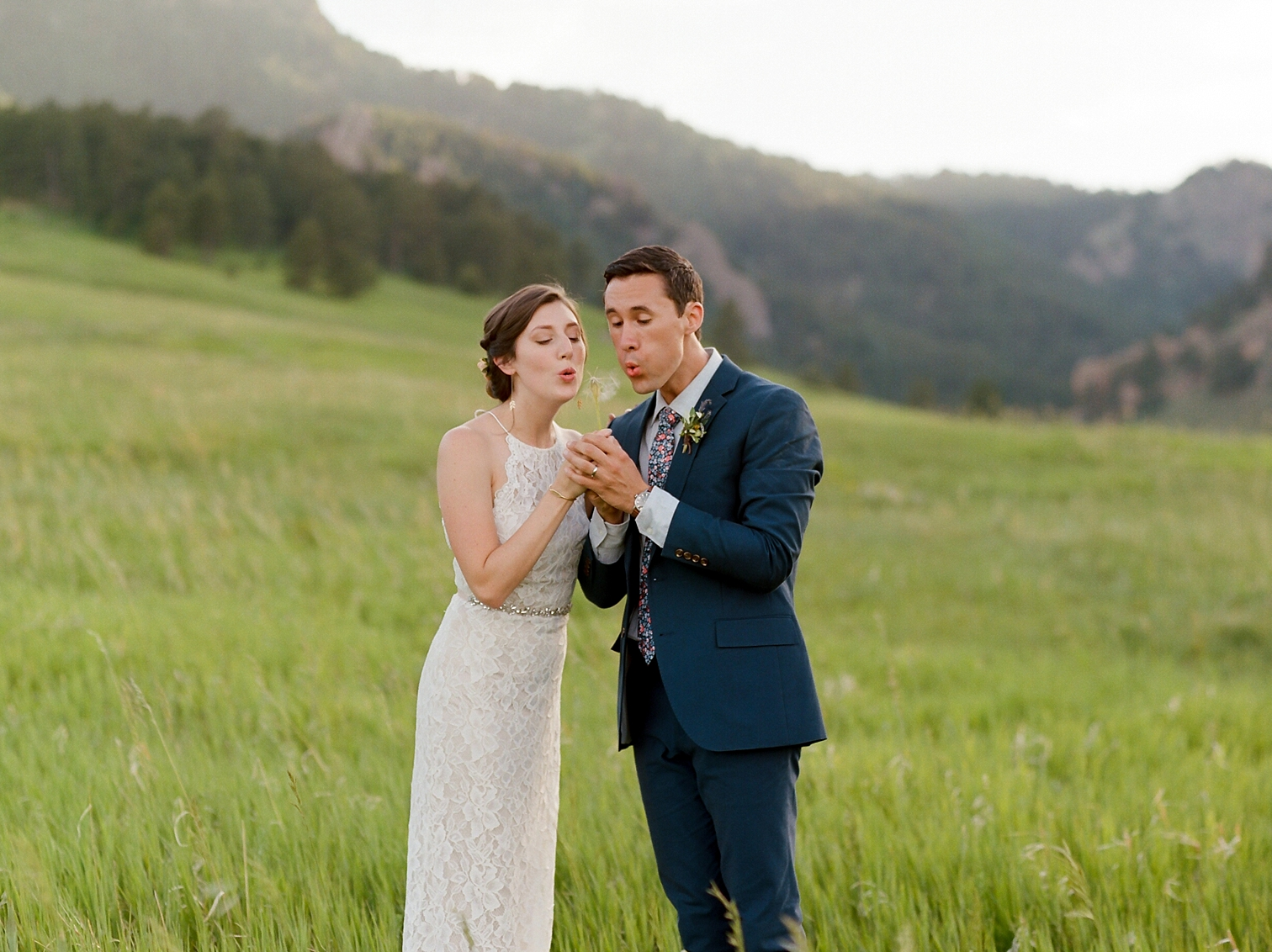 Outdoor Wedding Portraits, Colorado Mountain Weddings, Danielle DeFiore Photographer, Destination Wedding Photographers, Weddings in Boulder Colorado, Outdoor Ceremony, Film Photographer, Summer Weddings, Bride And Groom Walking In Fields