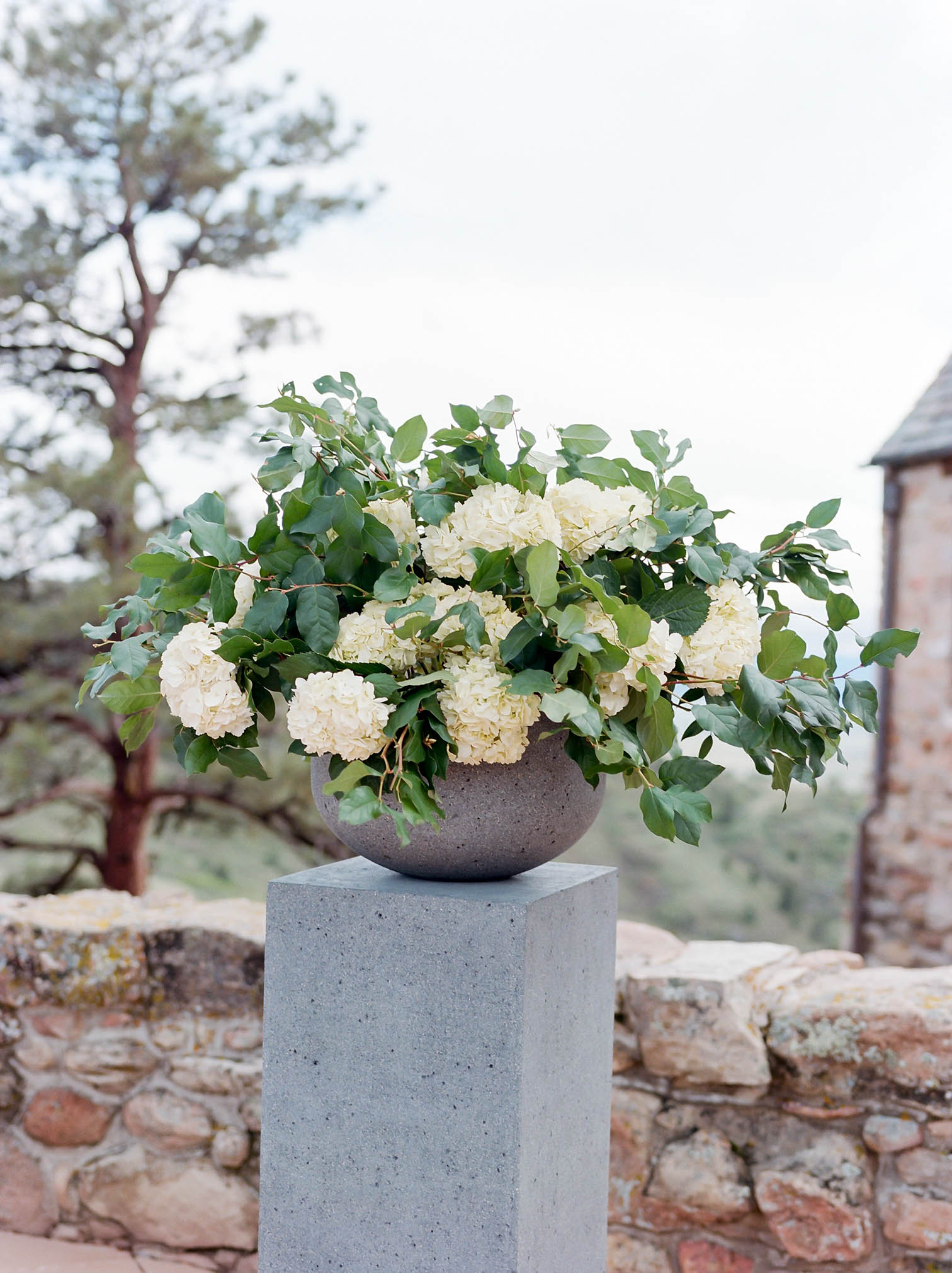 Mountain Flower Arrangement, Mountain Weddings, Danielle DeFiore Photographer, Bride and Groom Portraits, Colorado Wedding Photographers, Castle Wedding, Classic Black Tie Wedding, Film Photographer, Colorado Weddings