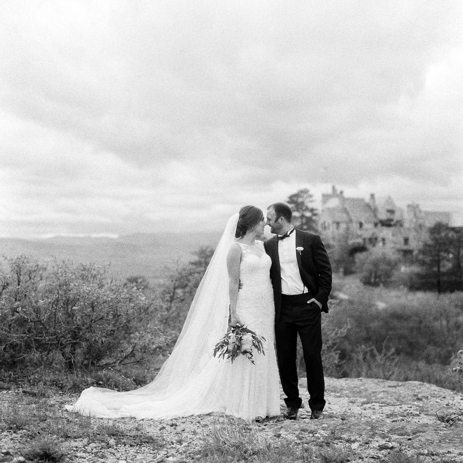 Mountain Weddings, Danielle DeFiore Photographer, Bride and Groom Portraits, Colorado Wedding Photographers, Castle Wedding, Classic Black Tie Wedding, Film Photographer, Colorado Weddings, Black and White Photography