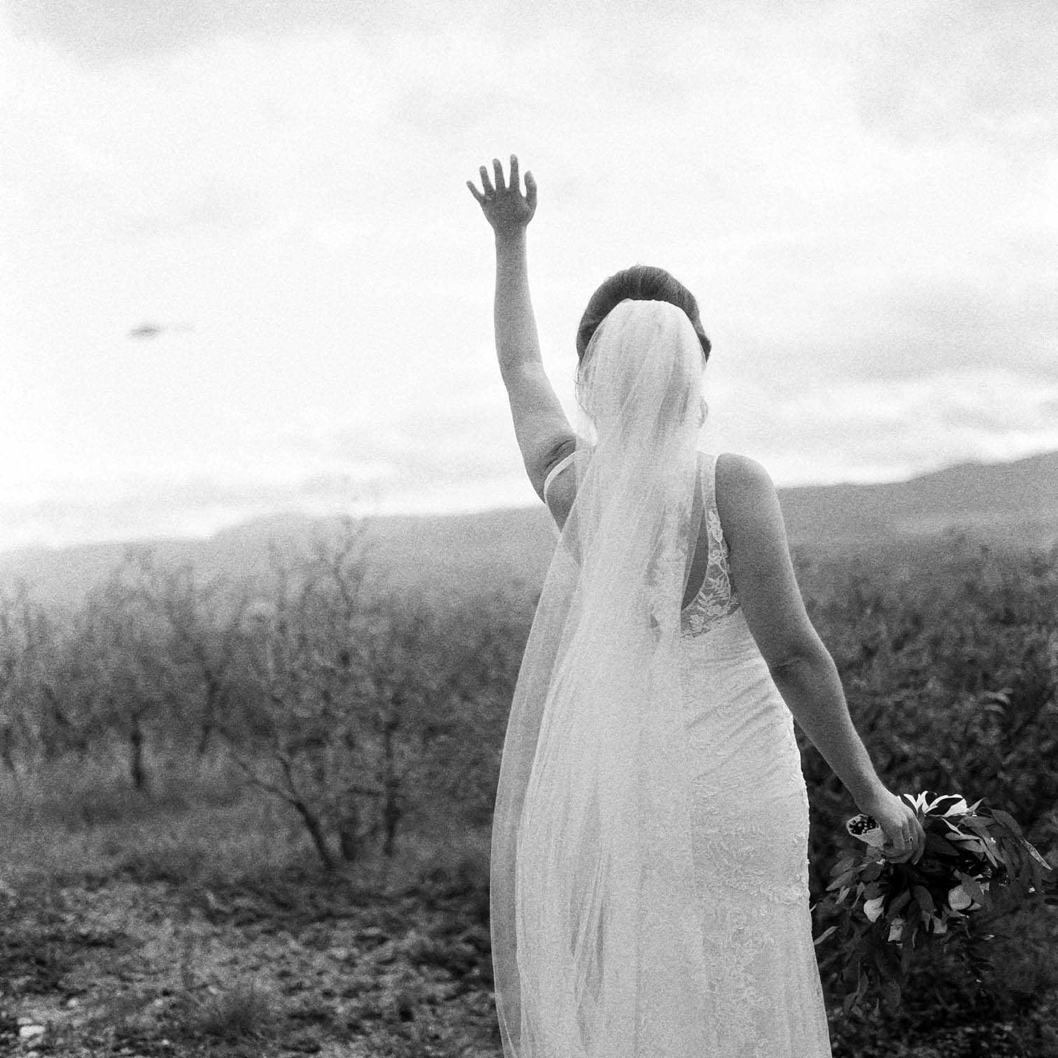 Rolleiflex Camera, Bride With Cathedral Veil, Danielle DeFiore Photographer, Bride and Groom, Colorado Wedding Photographers, Castle Wedding, Classic Black Tie Wedding, Film Photographer, Colorado Weddings
