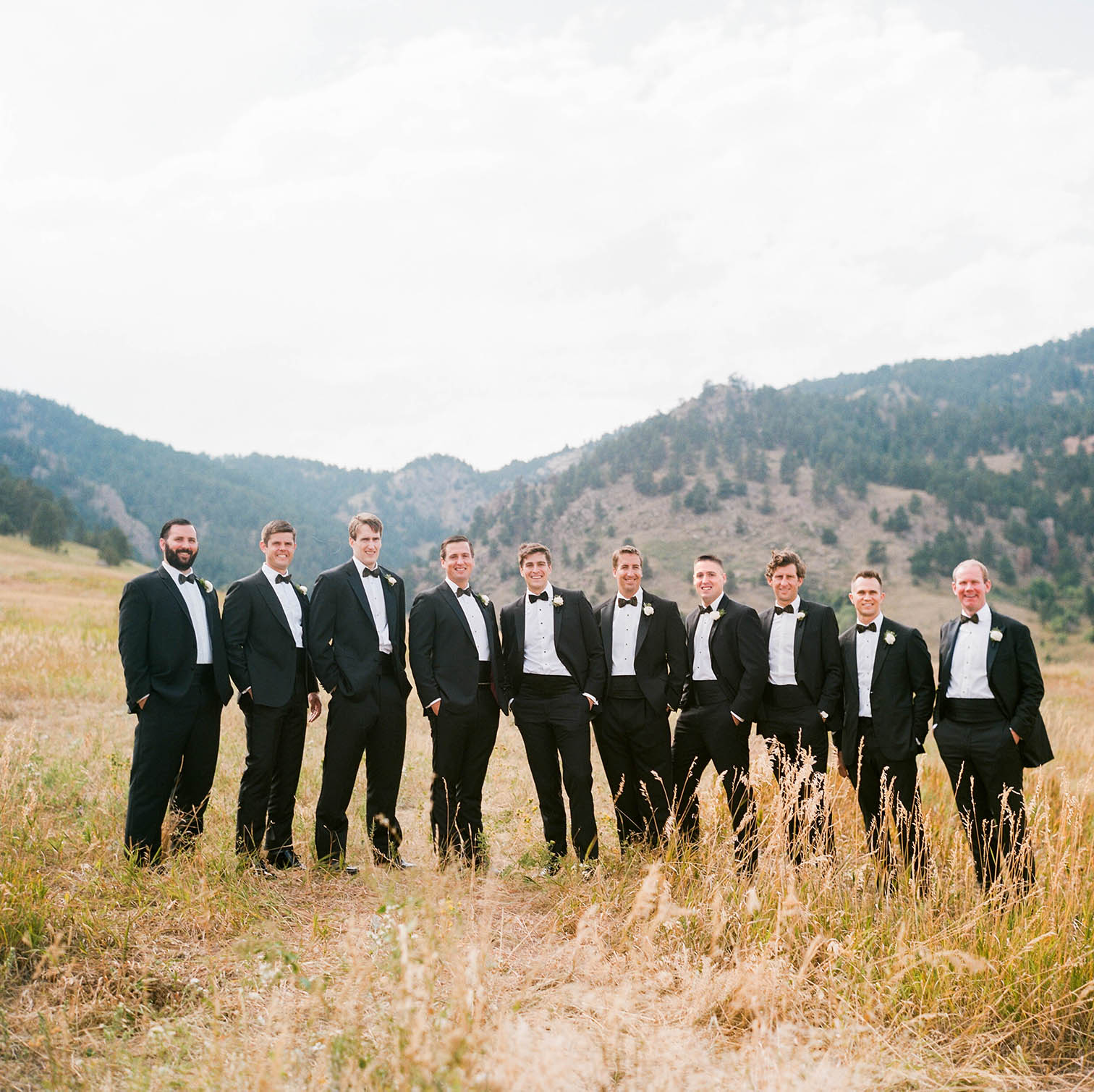 Boulder Weddings, Colorado Wedding Photographers, Denver Wedding Photographers, Film Photographers, Rolleiflex Camera, Colorado Weddings, Danielle DeFiore Photography, Denver Weddings, Boulder County Club Weddings, Classic Weddings In Colorado, Black Tie Weddings, Country Club Weddings, Church Weddings In Colorado, Best Wedding Photographers In Colorado, Chautauqua Park, Groom with Groomsmen