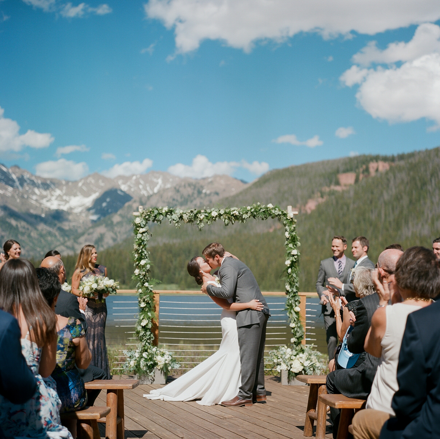Wedding Ceremony At Piney River, Vail Colorado Wedding, Colorado Wedding Photographer, Film Photographer, Mountain Wedding, Colorado Destination Wedding Photographers, Best Photographers In Colorado, Film Photography, Denver Wedding Photographers